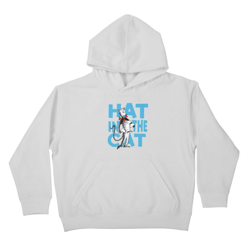 Hat in the Cat Kids Pullover Hoody by Flynnteractive's Artist Shop