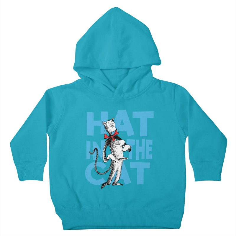 Hat in the Cat Kids Toddler Pullover Hoody by Flynnteractive's Artist Shop