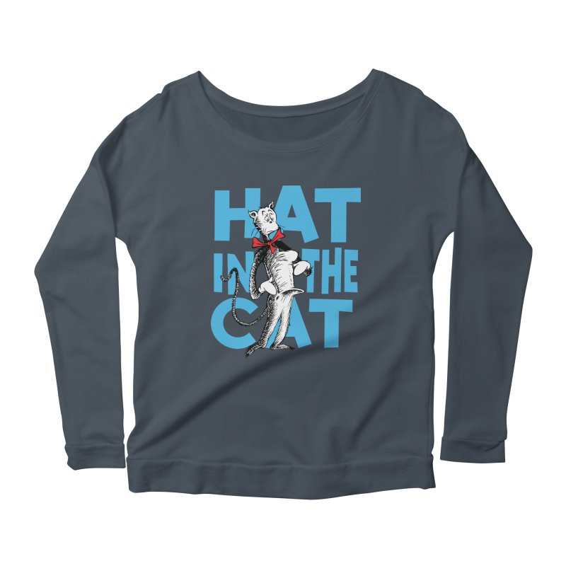 Hat in the Cat Women's Longsleeve Scoopneck  by Flynnteractive's Artist Shop