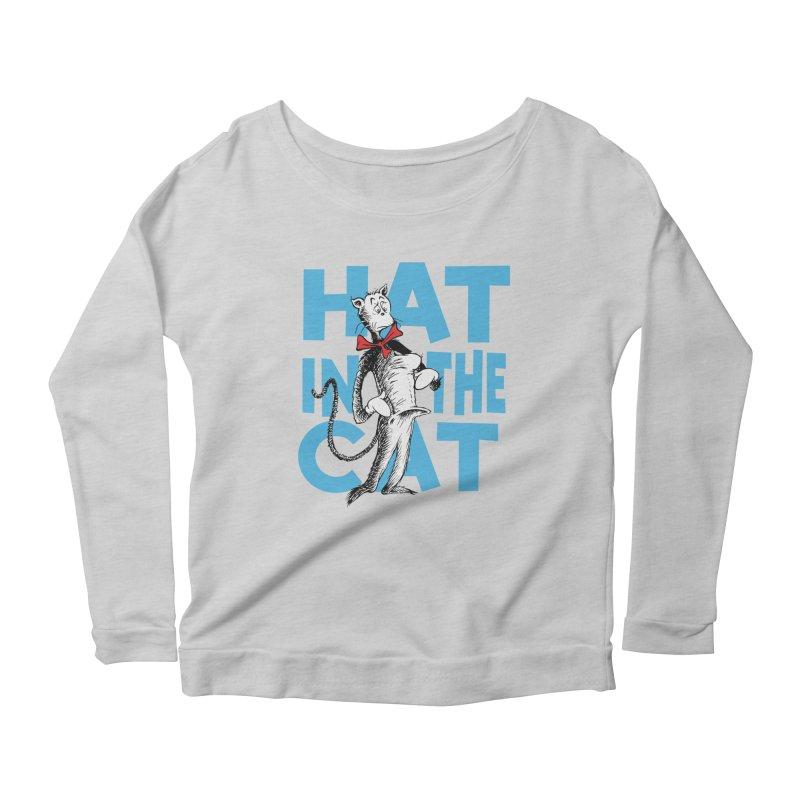 Hat in the Cat Women's Scoop Neck Longsleeve T-Shirt by Flynnteractive's Artist Shop