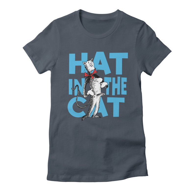Hat in the Cat Women's Fitted T-Shirt by Flynnteractive's Artist Shop