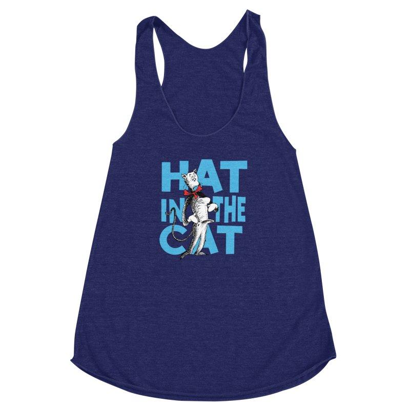 Hat in the Cat Women's Racerback Triblend Tank by Flynnteractive's Artist Shop