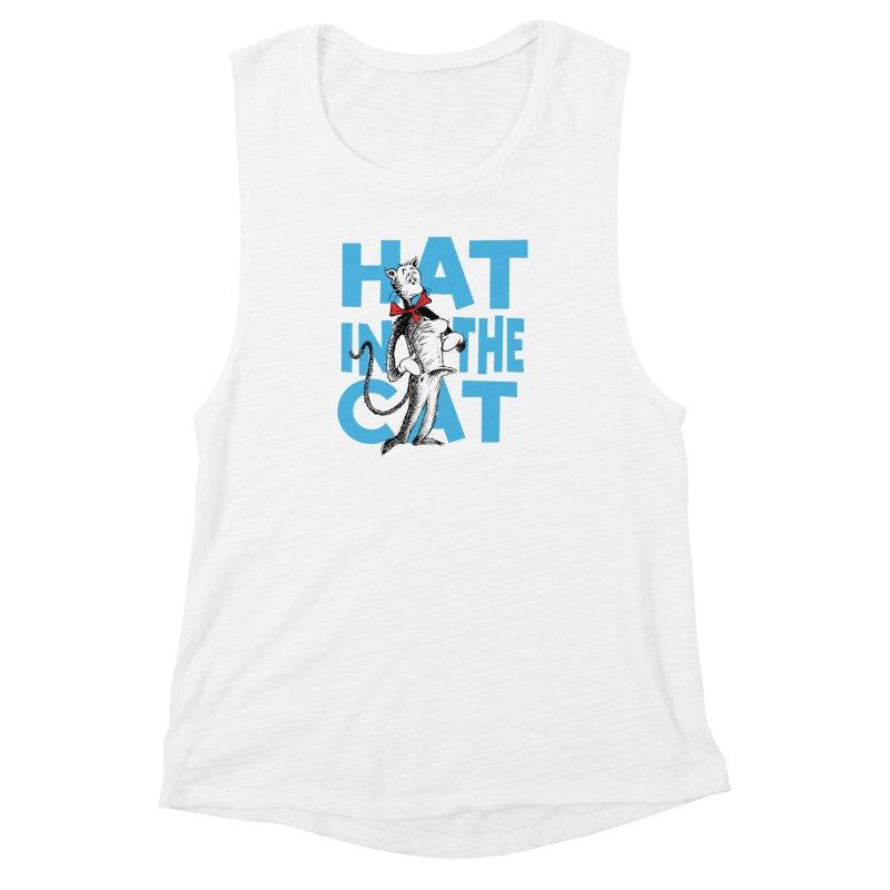 Hat in the Cat Women's Muscle Tank by Flynnteractive's Artist Shop