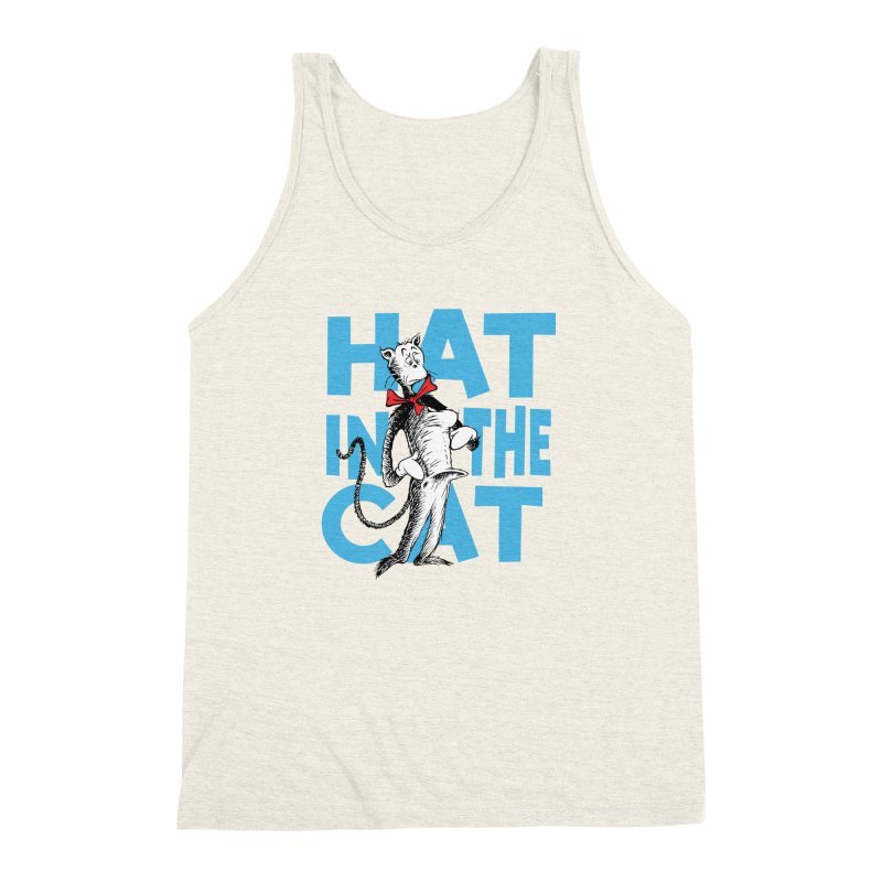 Hat in the Cat Men's Triblend Tank by Flynnteractive's Artist Shop