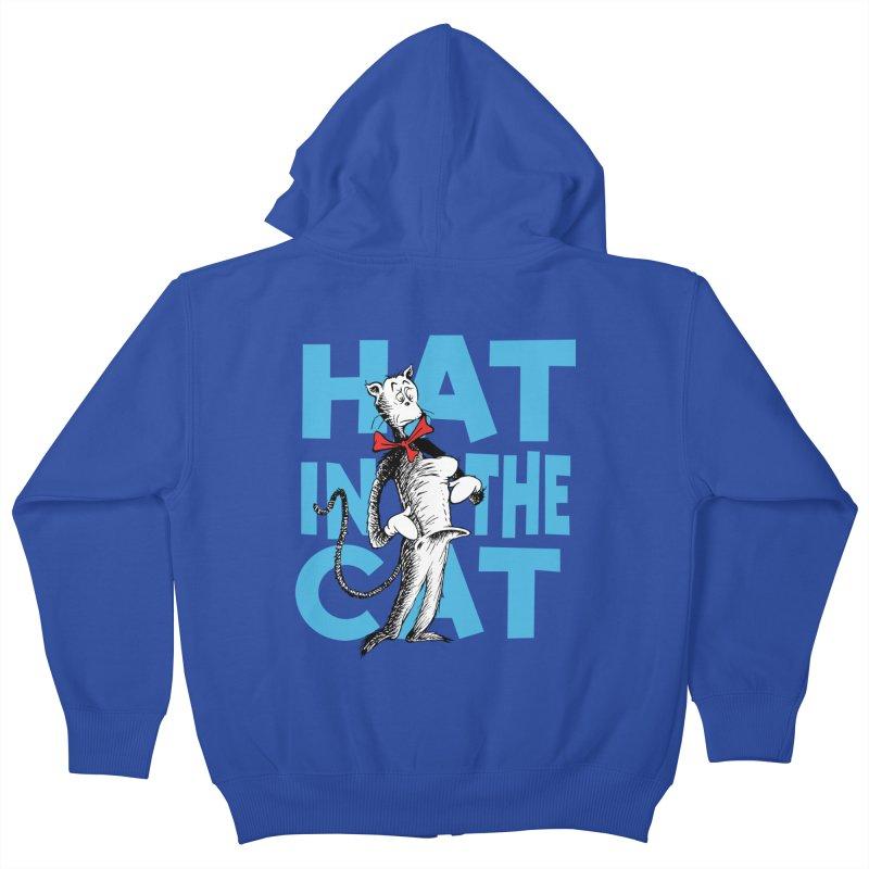 Hat in the Cat Kids Zip-Up Hoody by Flynnteractive's Artist Shop