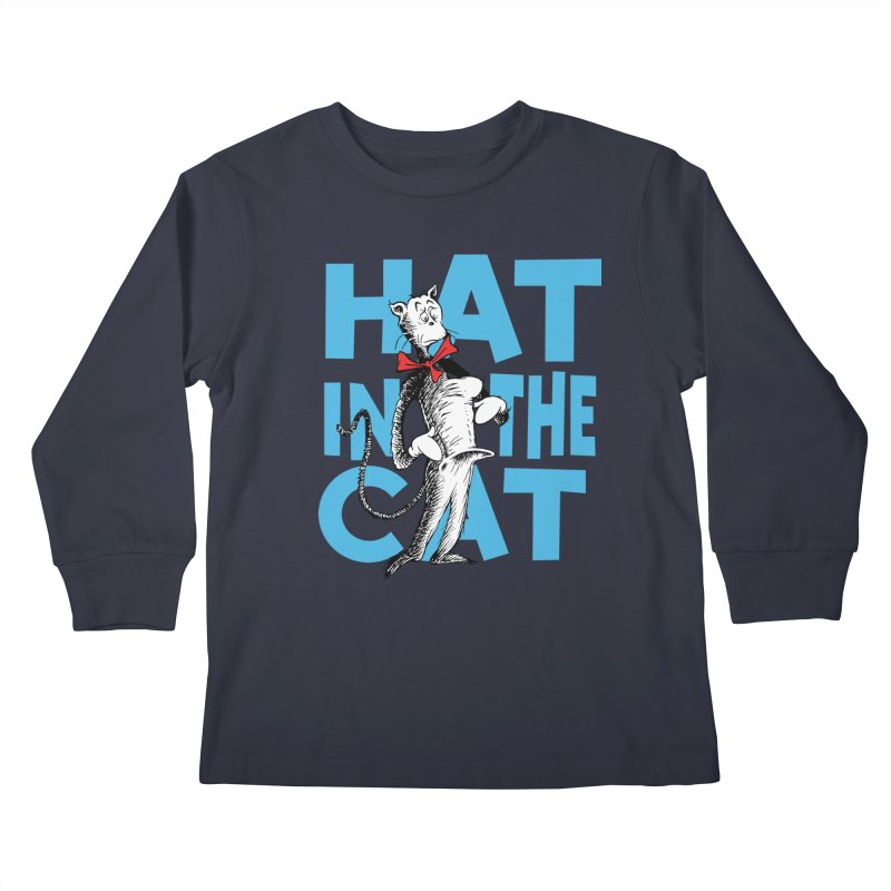 Hat in the Cat Kids Longsleeve T-Shirt by Flynnteractive's Artist Shop