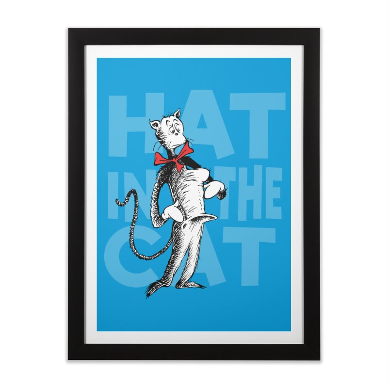 Hat in the Cat Home Framed Fine Art Print by Flynnteractive's Artist Shop