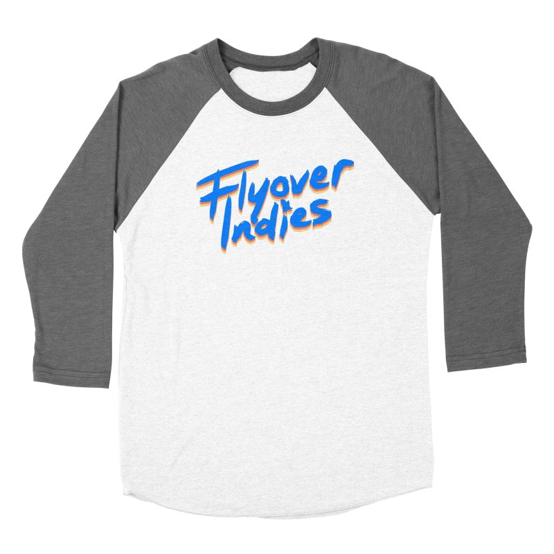 Flyover Indies Light Tri Band Women's Baseball Triblend T-Shirt by Flyover Indies Shop