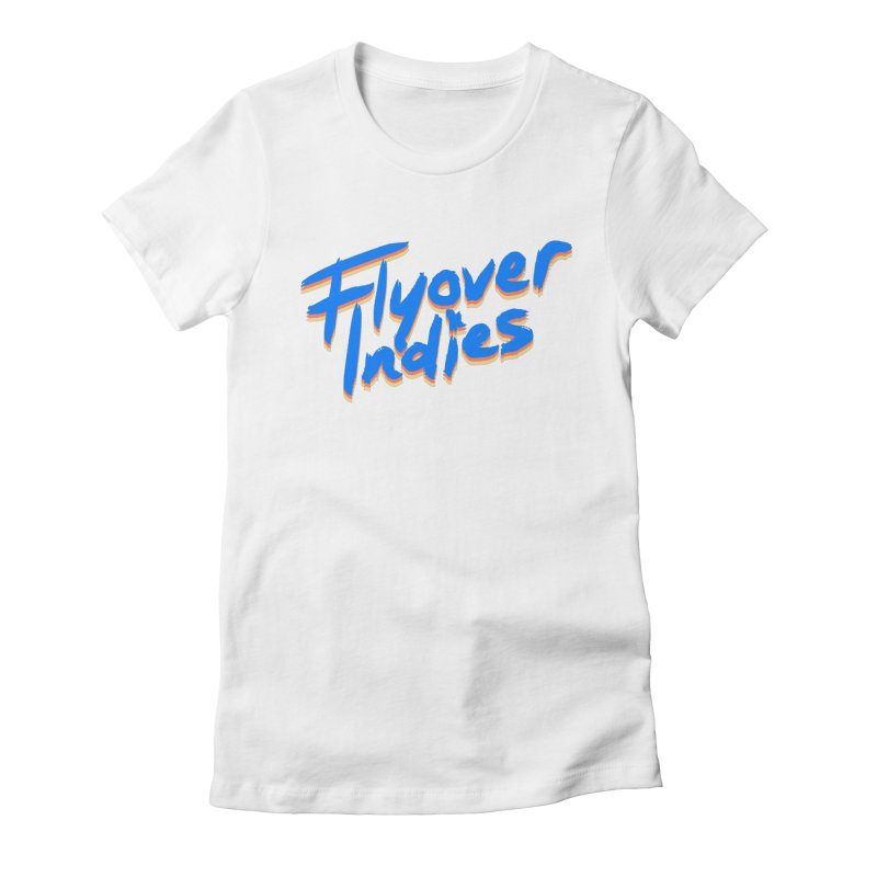 Flyover Indies Light Tri Band Women's Fitted T-Shirt by Flyover Indies Shop