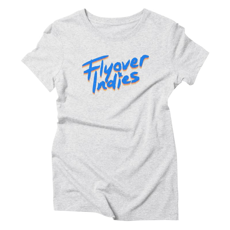 Flyover Indies Light Tri Band Women's Triblend T-Shirt by Flyover Indies Shop
