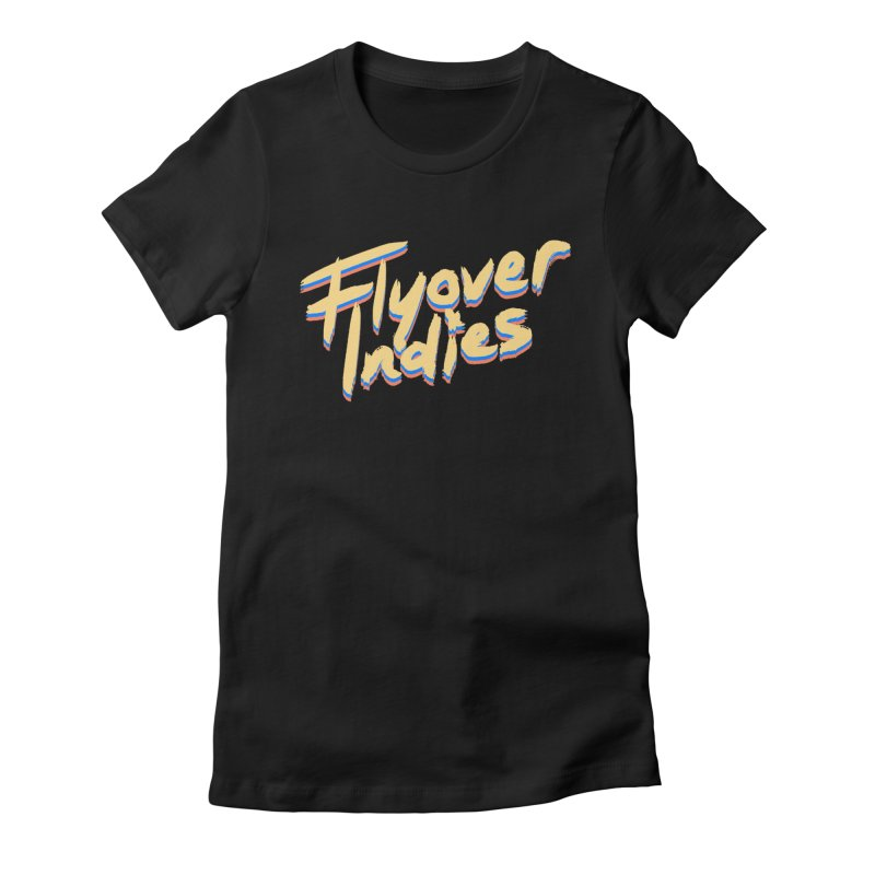 Flyover Indies Dark Tri Band Women's Fitted T-Shirt by Flyover Indies Shop