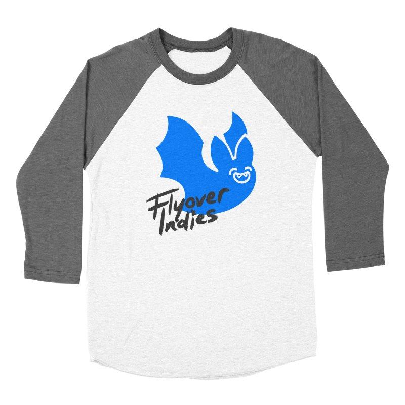 Flyover Indies Light Bat Women's Baseball Triblend Longsleeve T-Shirt by Flyover Indies Shop