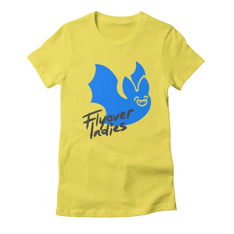 Flyover Indies Light Bat Women's Fitted T-Shirt by Flyover Indies Shop