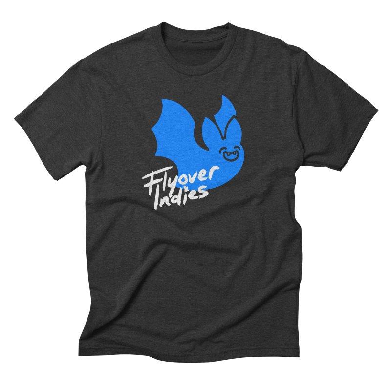 Flyover Indies Dark Bat Men's Triblend T-Shirt by Flyover Indies Shop