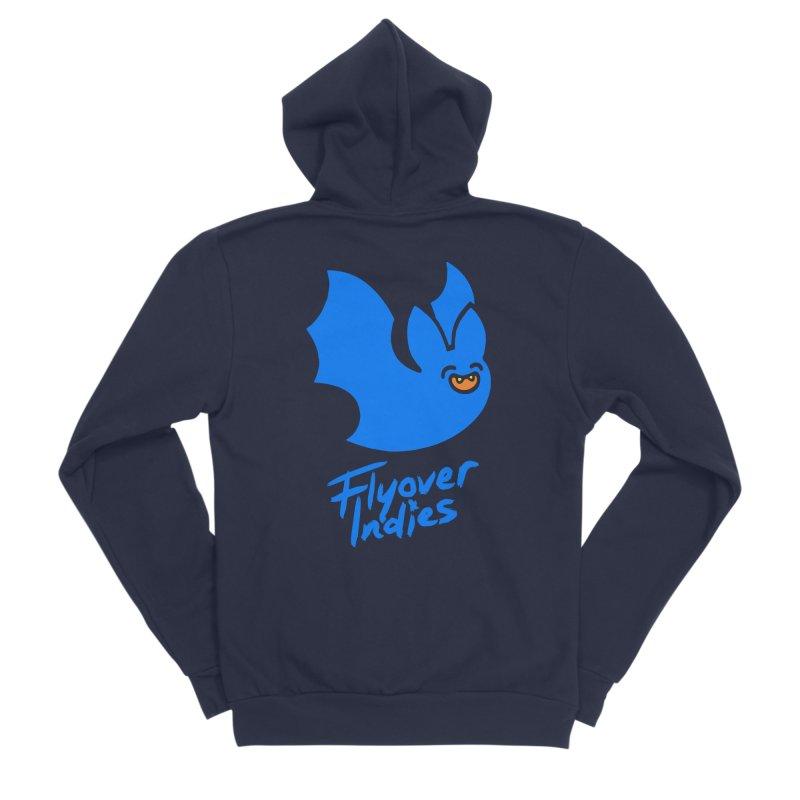 Batigan Flitz <3 Flyover Indies Tee and Hoody Women's Sponge Fleece Zip-Up Hoody by Flyover Indies Shop