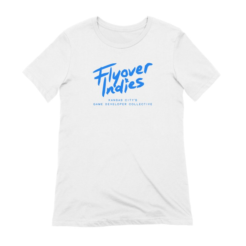 Flyover Indies Logo Tee and Hoody Women's Extra Soft T-Shirt by Flyover Indies Shop