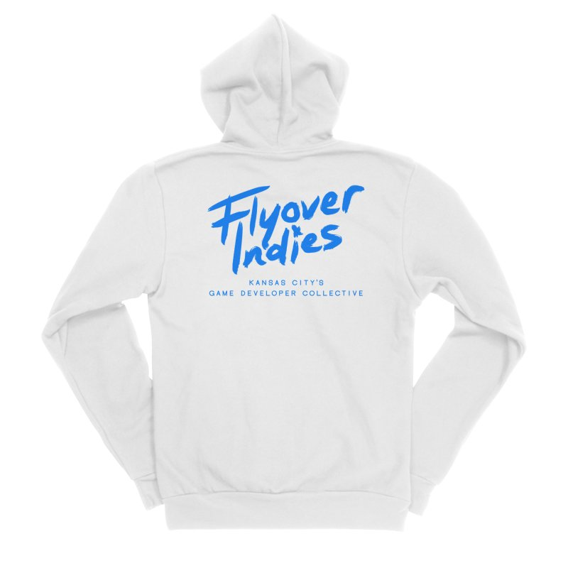 Flyover Indies Logo Tee and Hoody Men's Sponge Fleece Zip-Up Hoody by Flyover Indies Shop