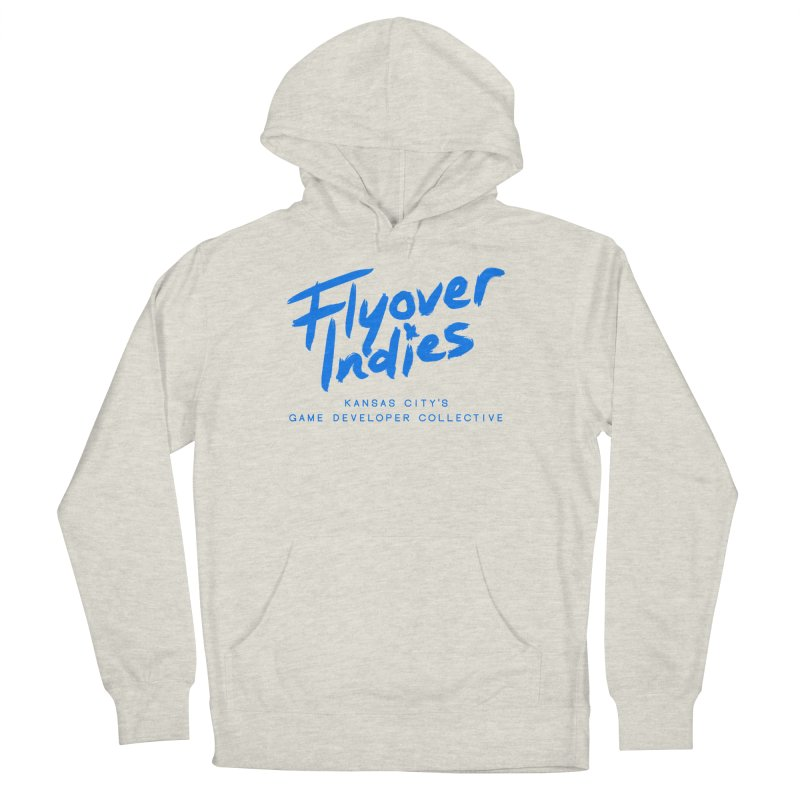 Flyover Indies Logo Tee and Hoody Women's French Terry Pullover Hoody by Flyover Indies Shop
