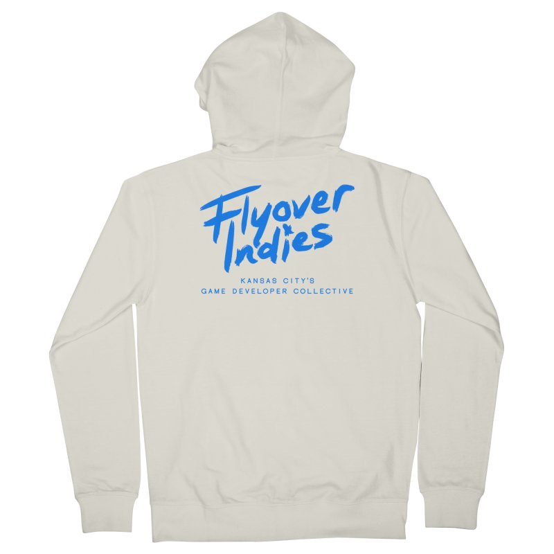 Flyover Indies Logo Tee and Hoody Men's French Terry Zip-Up Hoody by Flyover Indies Shop