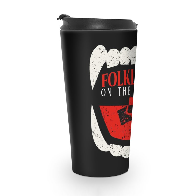 Folklore on the Rocks Classic Logo Accessories Travel Mug by Folklore on the Rocks Podcast MERCH!