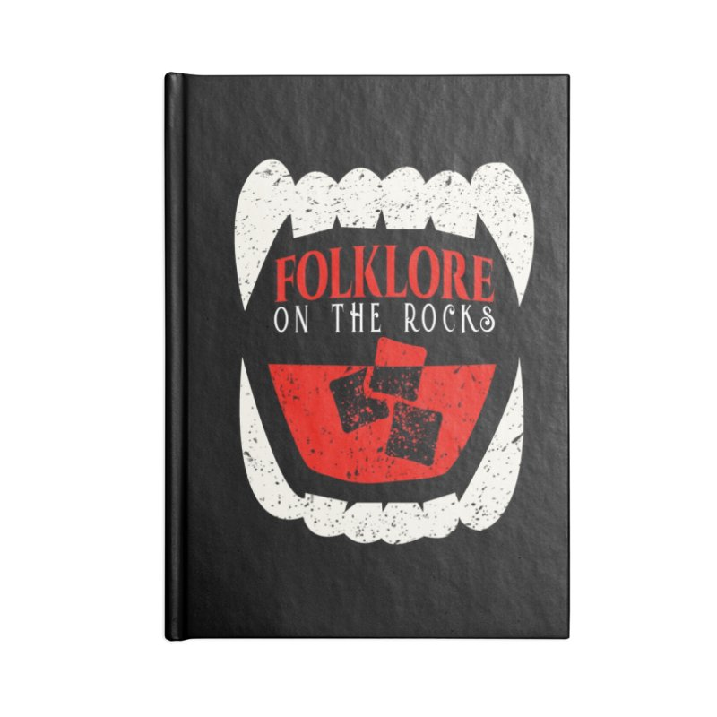 Folklore on the Rocks Classic Logo Accessories Lined Journal Notebook by Folklore on the Rocks Podcast MERCH!