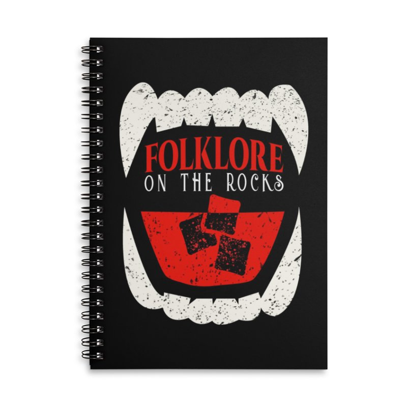 Folklore on the Rocks Classic Logo Accessories Lined Spiral Notebook by Folklore on the Rocks Podcast MERCH!