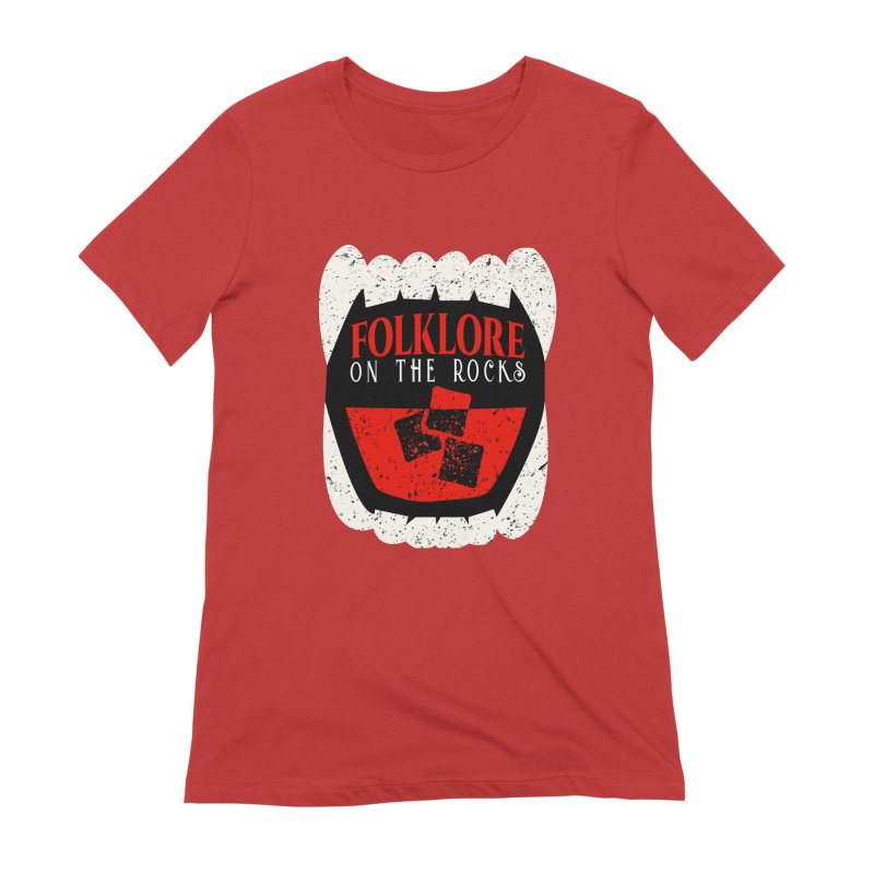 Folklore on the Rocks Classic Logo Women's Extra Soft T-Shirt by Folklore on the Rocks Podcast MERCH!