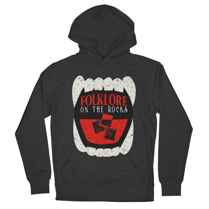 Folklore on the Rocks Classic Logo Men's French Terry Pullover Hoody by Folklore on the Rocks Podcast MERCH!
