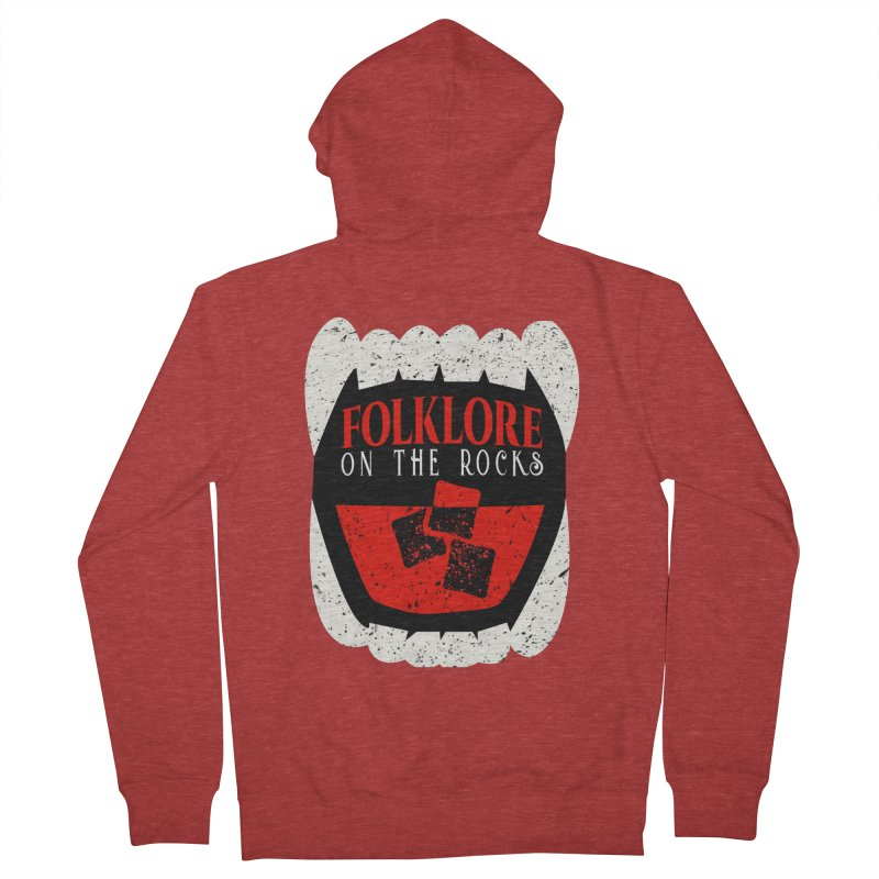 Folklore on the Rocks Classic Logo Women's French Terry Zip-Up Hoody by Folklore on the Rocks Podcast MERCH!