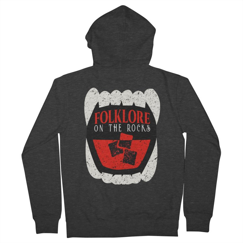 Folklore on the Rocks Classic Logo Men's French Terry Zip-Up Hoody by Folklore on the Rocks Podcast MERCH!