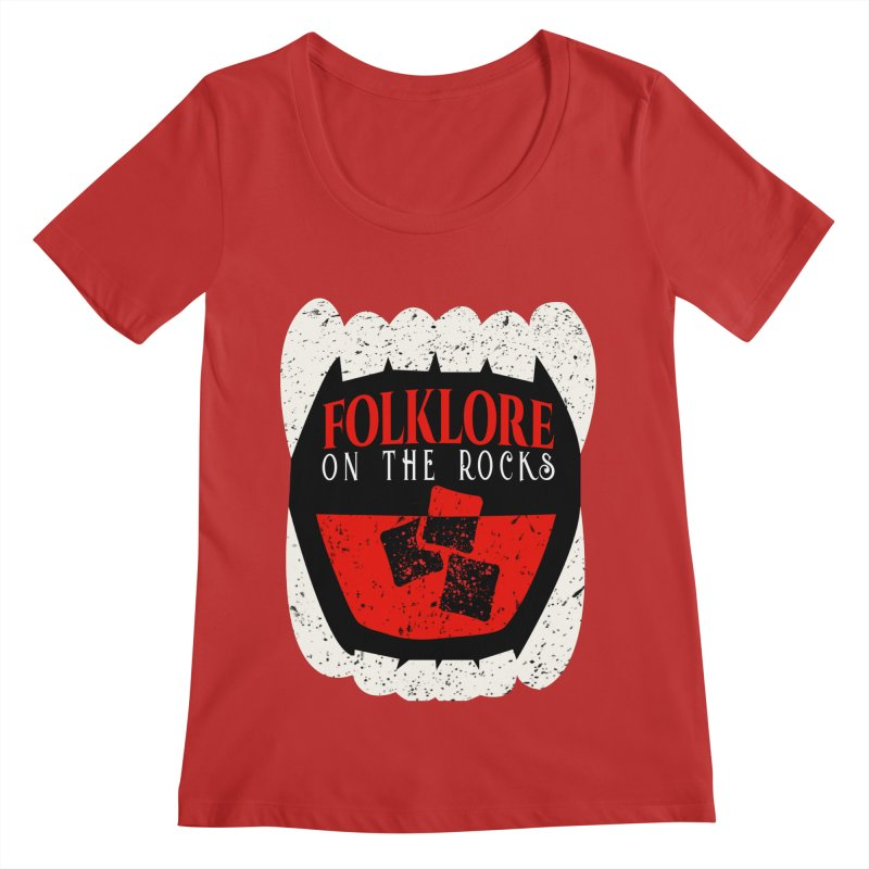 Folklore on the Rocks Classic Logo Women's Regular Scoop Neck by Folklore on the Rocks Podcast MERCH!