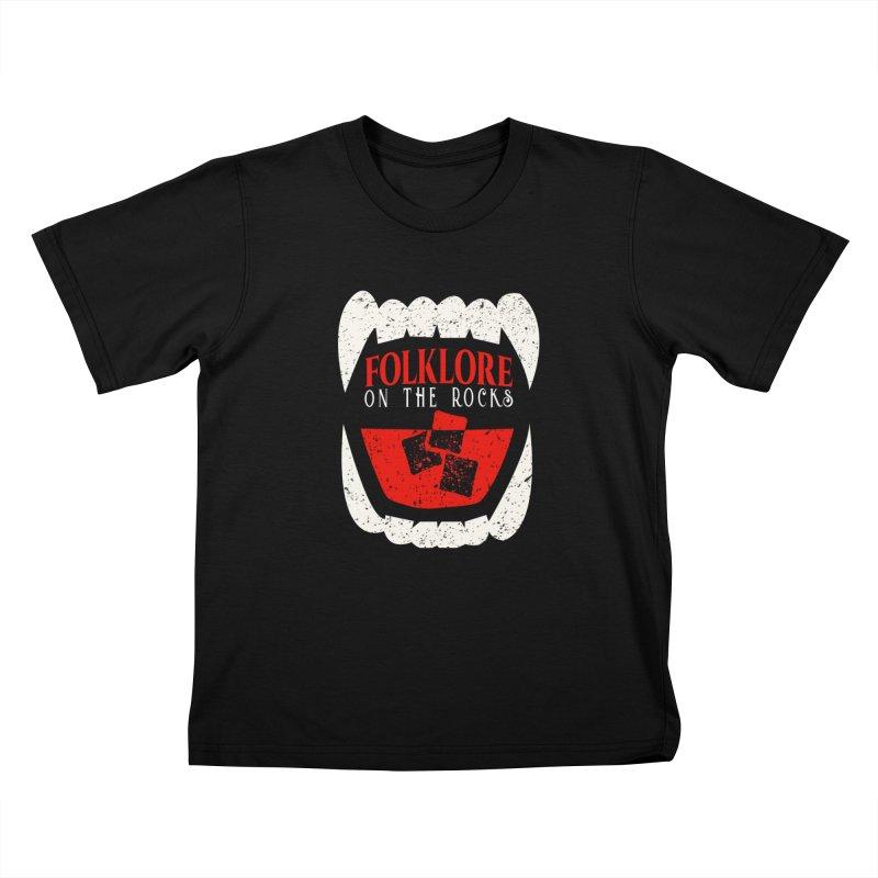 Folklore on the Rocks Classic Logo Kids T-Shirt by Folklore on the Rocks Podcast MERCH!