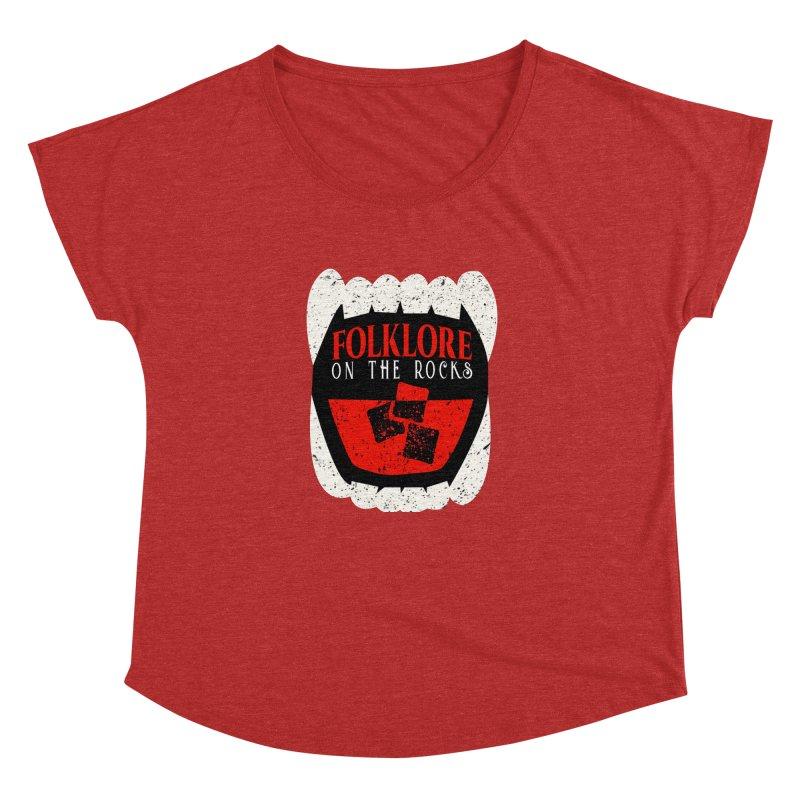 Folklore on the Rocks Classic Logo Women's Dolman Scoop Neck by Folklore on the Rocks Podcast MERCH!