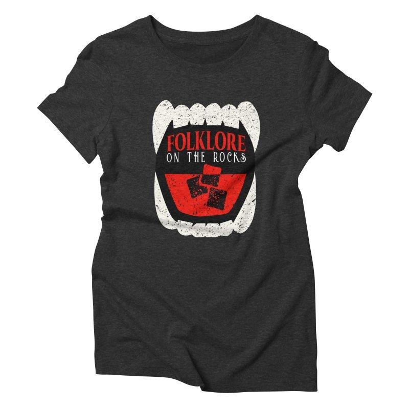 Folklore on the Rocks Classic Logo Women's Triblend T-Shirt by Folklore on the Rocks Podcast MERCH!