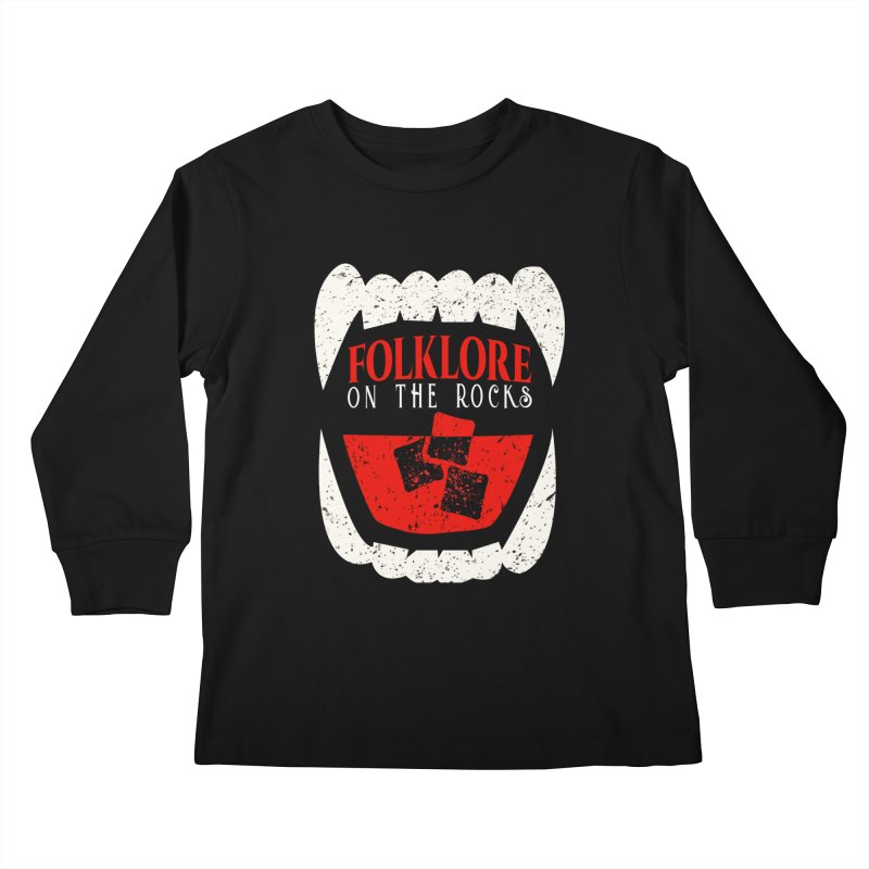 Folklore on the Rocks Classic Logo Kids Longsleeve T-Shirt by Folklore on the Rocks Podcast MERCH!