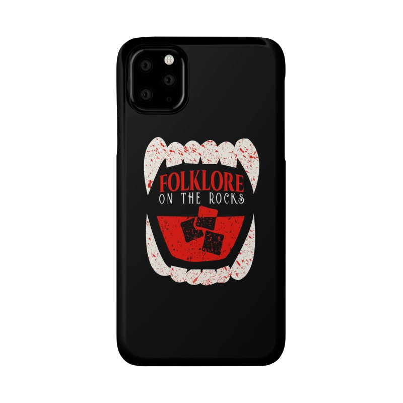 Folklore on the Rocks Blood Spattered Logo Accessories Phone Case by Folklore on the Rocks Podcast MERCH!