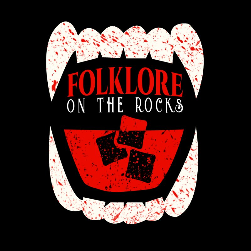 Folklore on the Rocks Blood Spattered Logo Men's T-Shirt by Folklore on the Rocks Podcast MERCH!