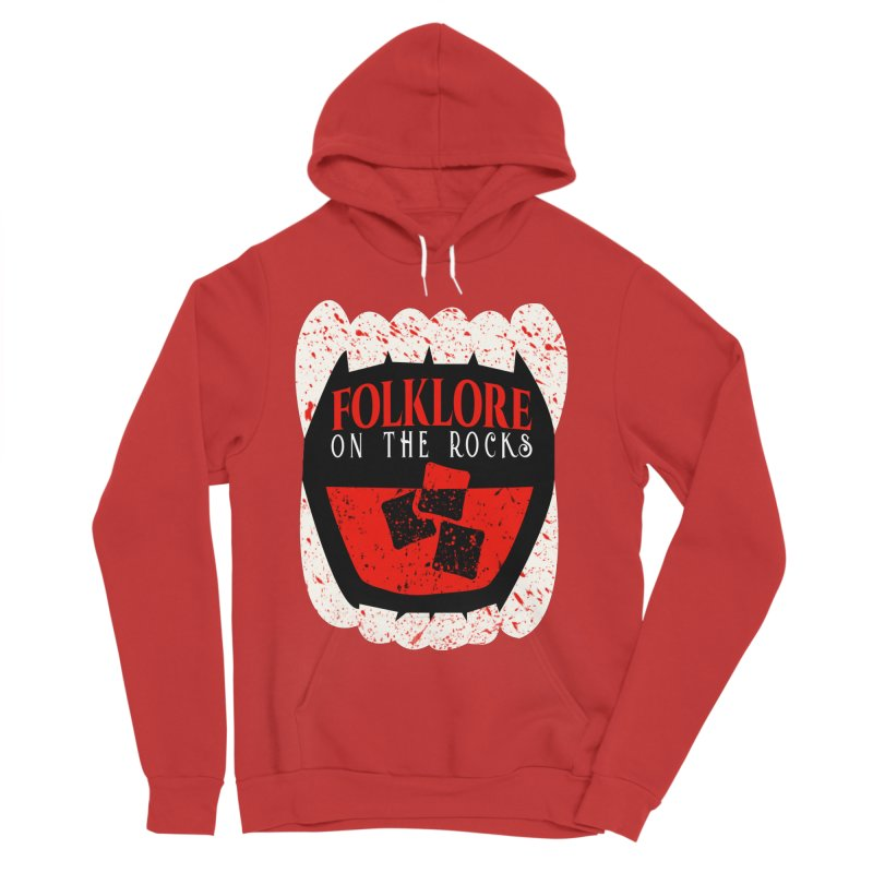 Folklore on the Rocks Blood Spattered Logo Women's Pullover Hoody by Folklore on the Rocks Podcast MERCH!