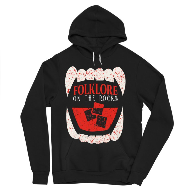 Folklore on the Rocks Blood Spattered Logo Women's Sponge Fleece Pullover Hoody by Folklore on the Rocks Podcast MERCH!