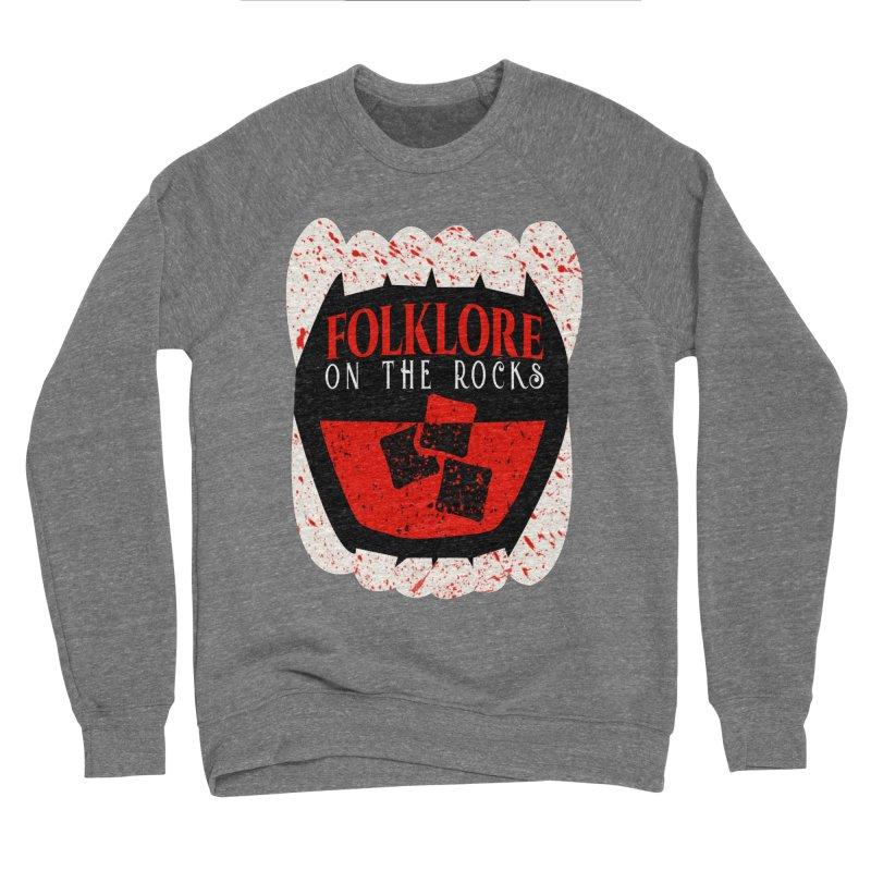 Folklore on the Rocks Blood Spattered Logo Men's Sponge Fleece Sweatshirt by Folklore on the Rocks Podcast MERCH!