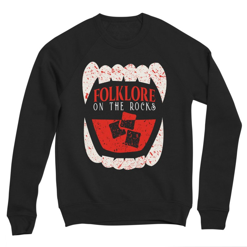 Folklore on the Rocks Blood Spattered Logo Women's Sponge Fleece Sweatshirt by Folklore on the Rocks Podcast MERCH!