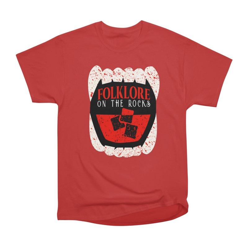 Folklore on the Rocks Blood Spattered Logo Men's T-Shirt by Folklore on the Rocks Podcast MERCH!