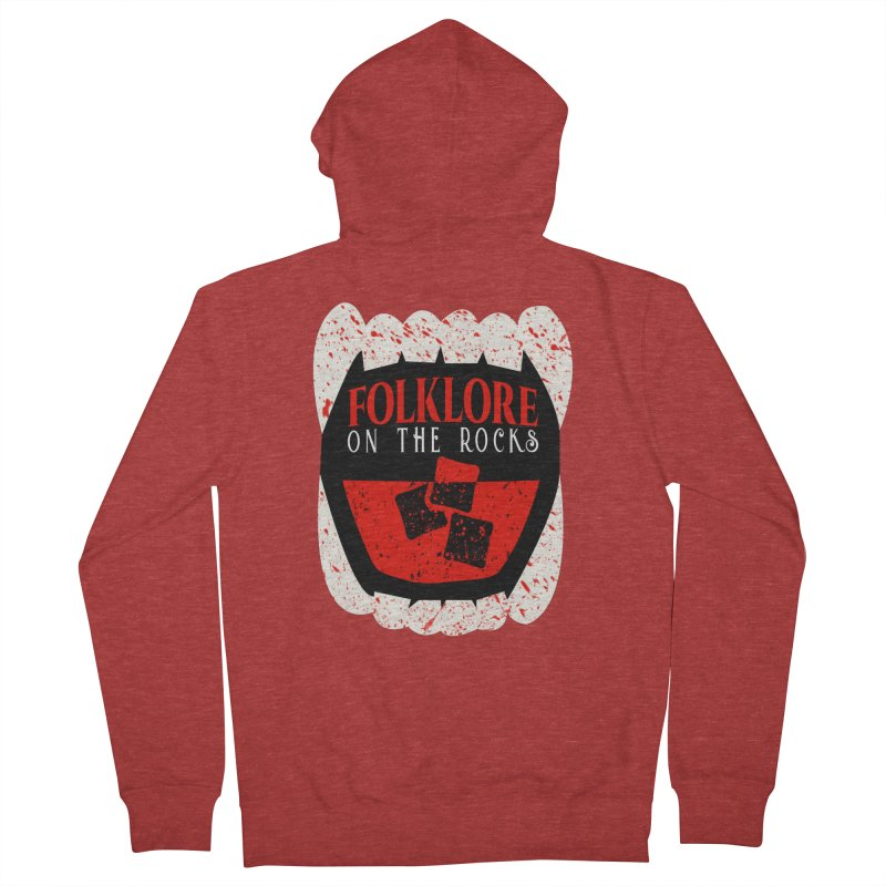 Folklore on the Rocks Blood Spattered Logo Women's Zip-Up Hoody by Folklore on the Rocks Podcast MERCH!