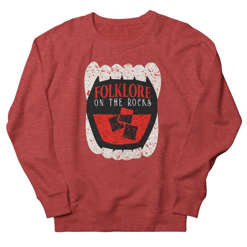 Folklore on the Rocks Blood Spattered Logo Women's Sweatshirt by Folklore on the Rocks Podcast MERCH!