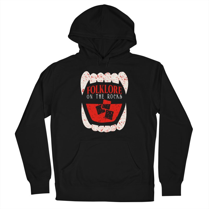 Folklore on the Rocks Blood Spattered Logo Women's French Terry Pullover Hoody by Folklore on the Rocks Podcast MERCH!