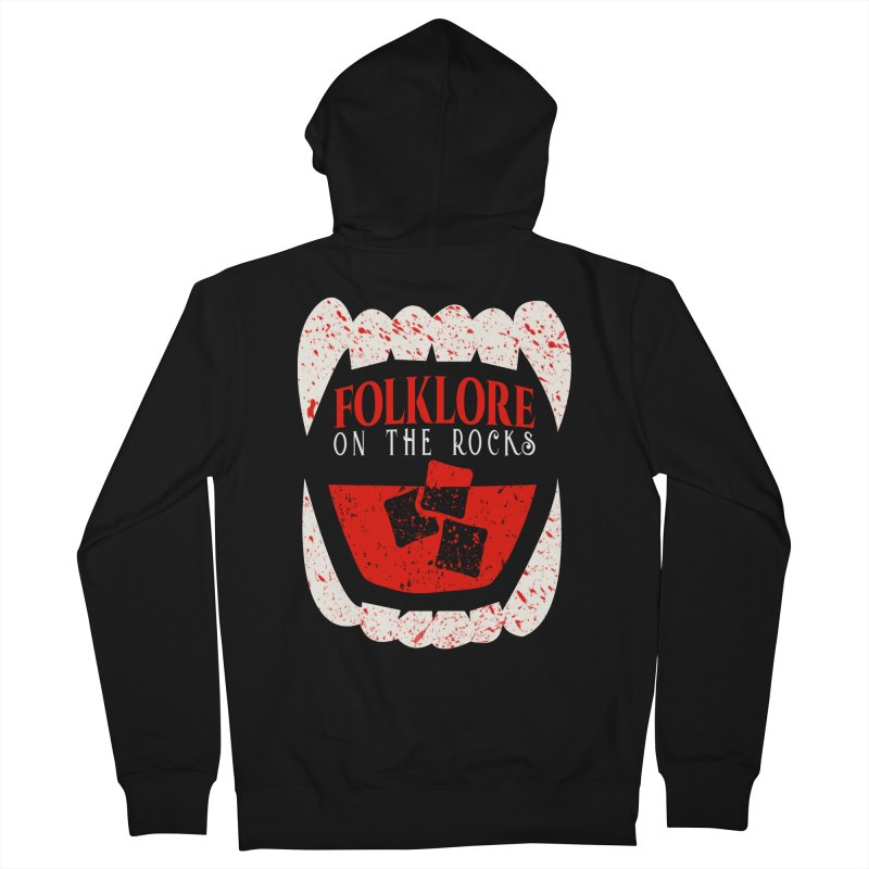 Folklore on the Rocks Blood Spattered Logo Women's French Terry Zip-Up Hoody by Folklore on the Rocks Podcast MERCH!