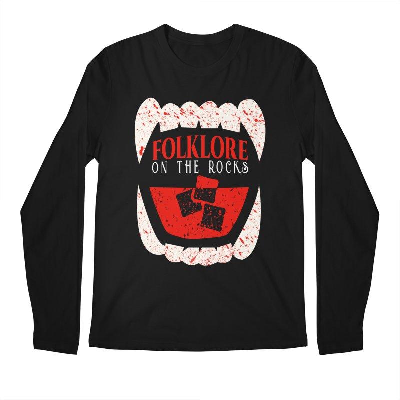 Folklore on the Rocks Blood Spattered Logo Men's Regular Longsleeve T-Shirt by Folklore on the Rocks Podcast MERCH!