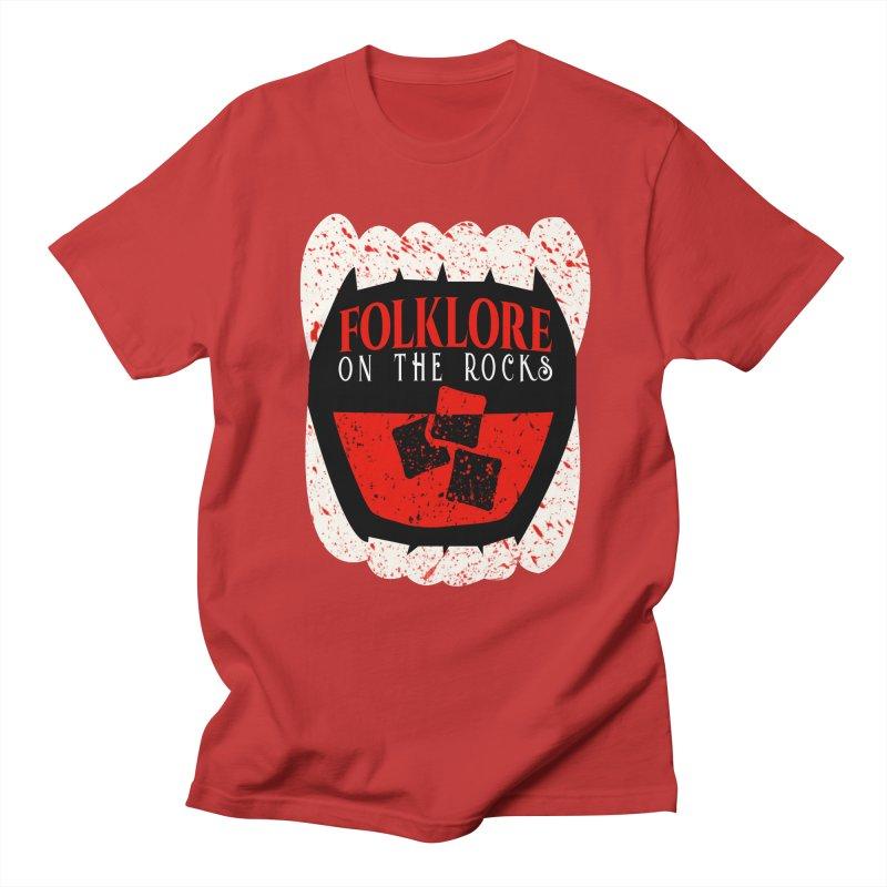 Folklore on the Rocks Blood Spattered Logo Men's Regular T-Shirt by Folklore on the Rocks Podcast MERCH!