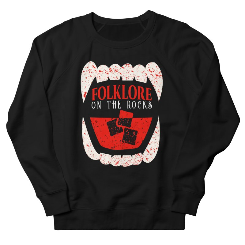 Folklore on the Rocks Blood Spattered Logo Men's French Terry Sweatshirt by Folklore on the Rocks Podcast MERCH!