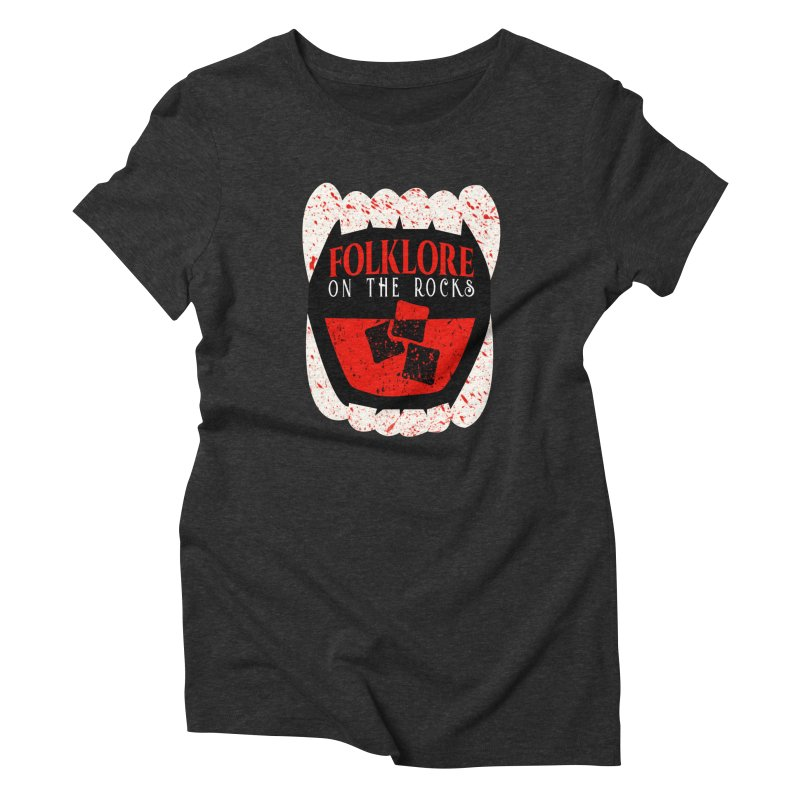 Folklore on the Rocks Blood Spattered Logo Women's Triblend T-Shirt by Folklore on the Rocks Podcast MERCH!